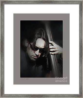 Framed Print featuring the photograph Bass Player by Pedro L Gili