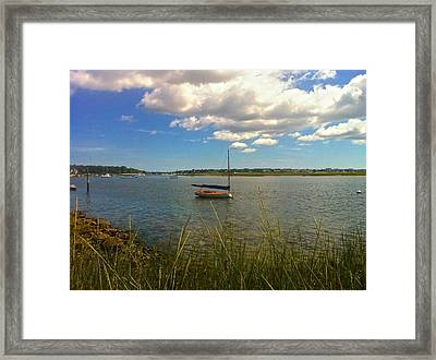 Bass River Boat Framed Print