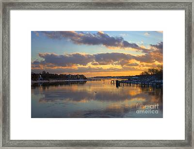 Bass River Reflection Framed Print by Amazing Jules