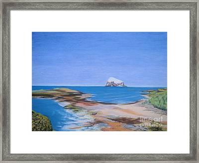 Bass Rock North Berwick Framed Print by Yvonne Johnstone
