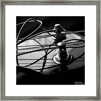 Bass String Blues Framed Print by Barbara St Jean