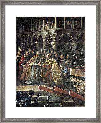 Bassano, Francesco 1540-1592. Meeting Framed Print by Everett