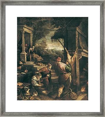 Bassano, Leandro 1557-1622. The Return Framed Print by Everett