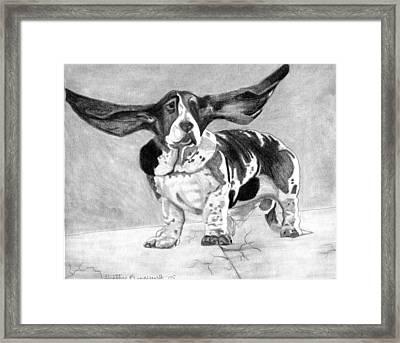 Basset Artesien Normand Dog Portrait Framed Print by Olde Time  Mercantile