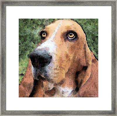 Basset Hound - Irresistible  Framed Print by Sharon Cummings