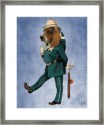 Basset Hound Policeman Framed Print by Kelly McLaughlan