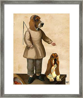 Basset Hounds Two Basset Hounds Framed Print by Kelly McLaughlan