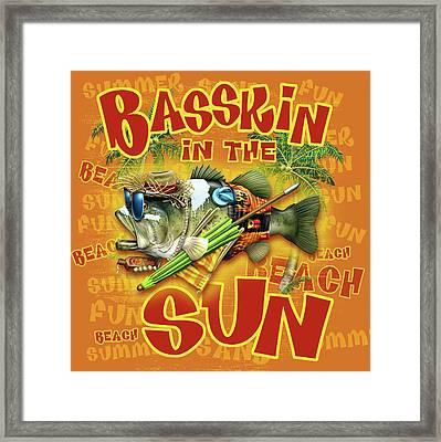 Basskin In The Sun Framed Print by Jim Baldwin