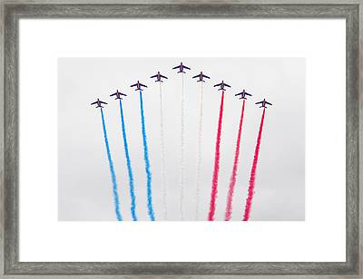 Bastille Day Air Show At The Champs-elysees Framed Print