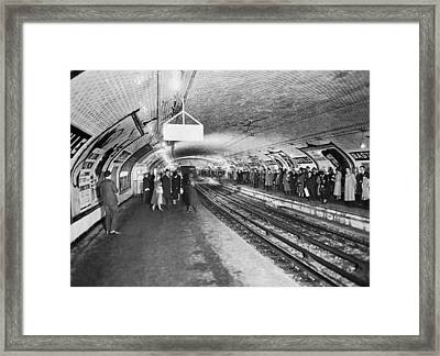 bastille Subway Station Framed Print
