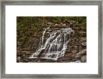 Framed Print featuring the photograph Bastion Falls - Catskills by Vicki DeVico