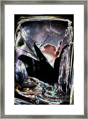 Bastrop Burning Broken Glass 1 Framed Print