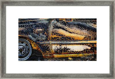 Bastrop Burning Vehicle 1 Framed Print