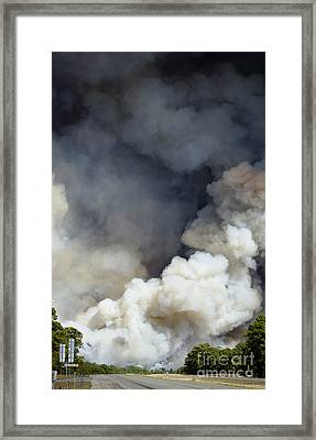 Bastrop Wildfire Crosses Hwy 71 Framed Print