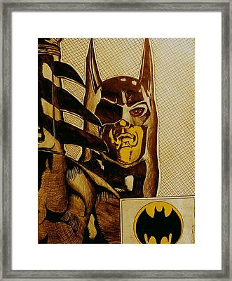 Framed Print featuring the mixed media Bat Man by Dan Wagner