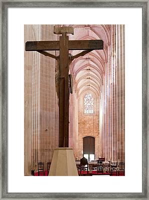 Batalha Monastery Altar Crucifix Framed Print by Jose Elias - Sofia Pereira