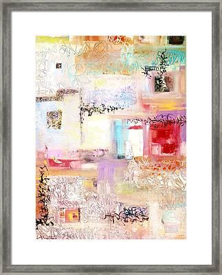 Batalla De Flores Framed Print