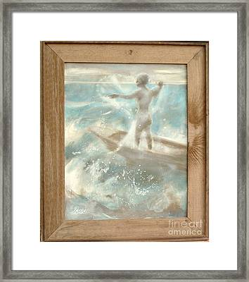 Framed Print featuring the painting Bateau by Gertrude Palmer