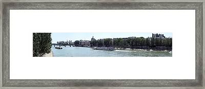 Bateaux Boat In A River, Seine River Framed Print