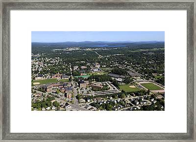 Bates College, Lewiston Framed Print by Dave Cleaveland