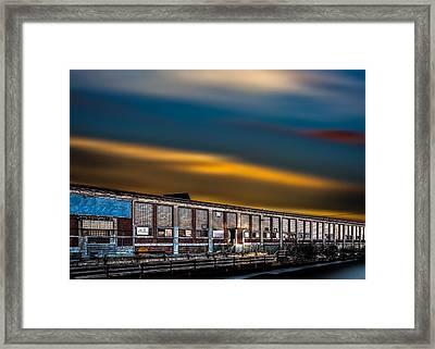Bates Mill Number 5 Sunset Framed Print