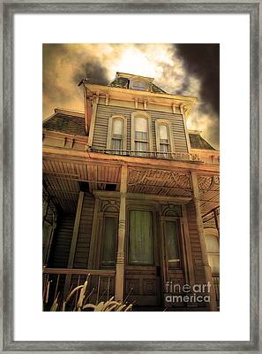 Bates Motel 5d28867 Sepia V1 Framed Print by Wingsdomain Art and Photography