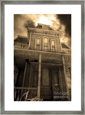 Bates Motel 5d28867 Sepia V2 Framed Print by Wingsdomain Art and Photography
