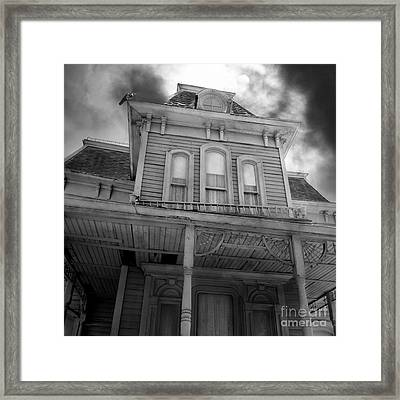 Bates Motel 5d28867 Square Black And White Framed Print by Wingsdomain Art and Photography