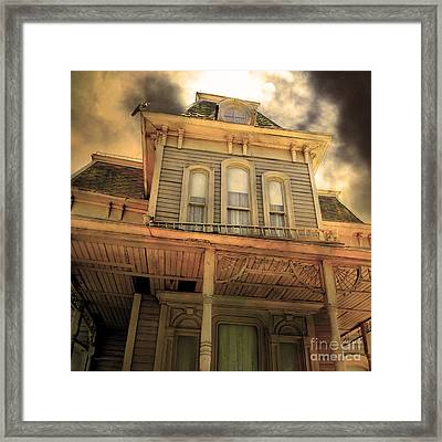 Bates Motel 5d28867 Square Sepia V1 Framed Print by Wingsdomain Art and Photography