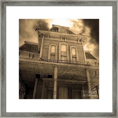 Bates Motel 5d28867 Square Sepia V2 Framed Print by Wingsdomain Art and Photography