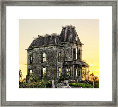 Bates Motel Haunted House Framed Print by Paul W Sharpe Aka Wizard of Wonders