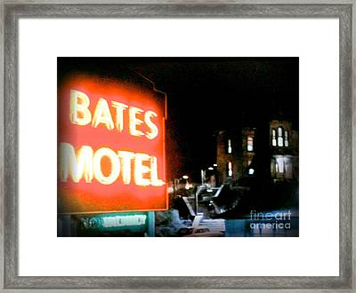 Bates Motel Vacancy Framed Print