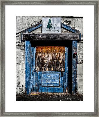 Bates Of Maine Framed Print by Bob Orsillo