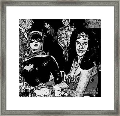 Batgirl Discovers Wonder Woman's Source Of Power Framed Print