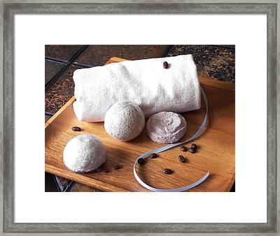 Bath Bombs Framed Print by Anastasiya Malakhova