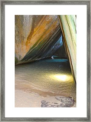 Bath Cave Framed Print by Carey Chen