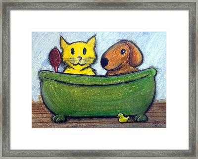 Bath Friends Framed Print