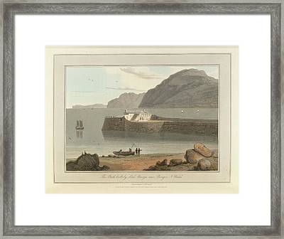 Bath House Bangor In North Wales Framed Print by British Library