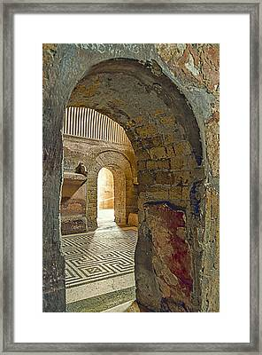Bath House Framed Print