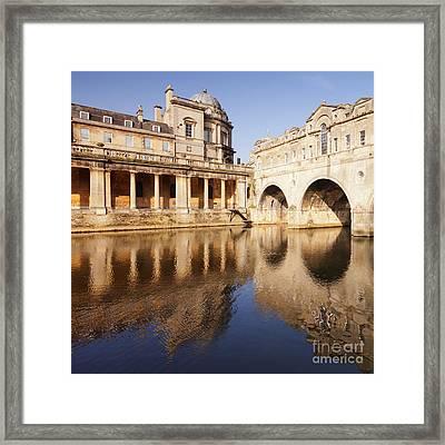 Bath Pulteney Bridge And Colonnade Bath Framed Print by Colin and Linda McKie