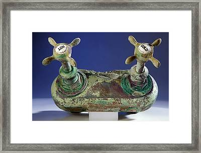 Bath Taps From The Titanic Framed Print