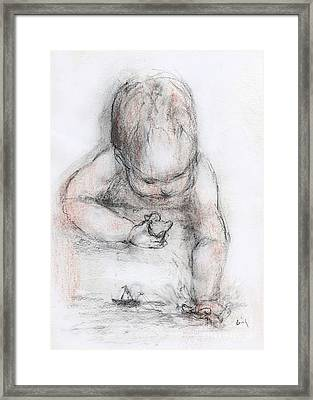 Bath Time Framed Print by Cecily Mitchell