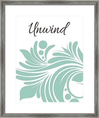 Bath Unwind Swirl Framed Print by Tamara Robinson
