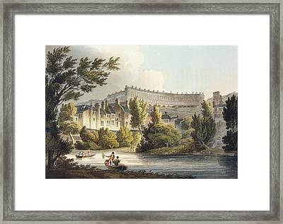 Bath Wick Ferry, From Bath Illustrated Framed Print by John Claude Nattes