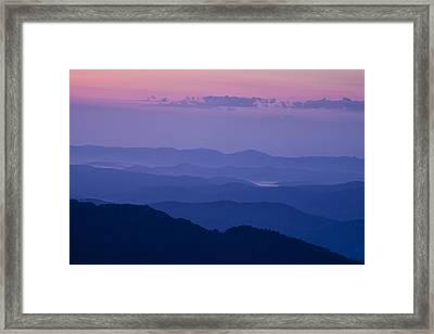 Bathed In Blue Framed Print by Andrew Soundarajan