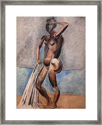 Bather Framed Print by Pablo Picasso