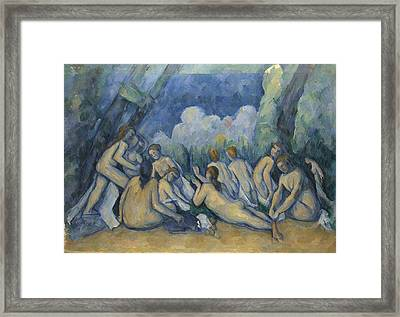 Bathers Les Grandes Baigneuses Framed Print