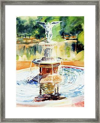 Bathesda Fountain Framed Print