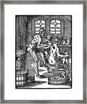 Bathhouse Proprietor, 1568 Framed Print