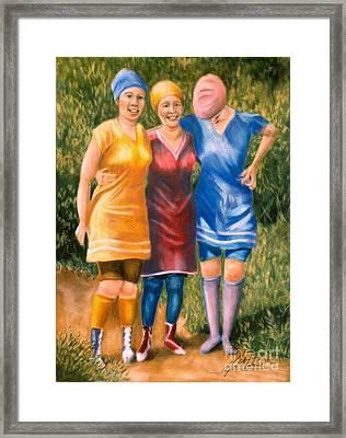 Bathing Beauties Framed Print by Leah Wiedemer